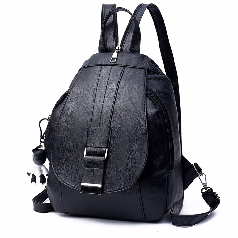 Fashion Women Backpack High Quality Dual-use Leather Backpacks For Teenage Girls Female School Shoulder Bag Bagpack #442