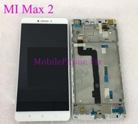 Tested LCD Display + Touch Screen Digitizer + Front Frame Assembly For Xiaomi Max 2 Mi Max2 6.44'' 1920x1080 Replacement Parts