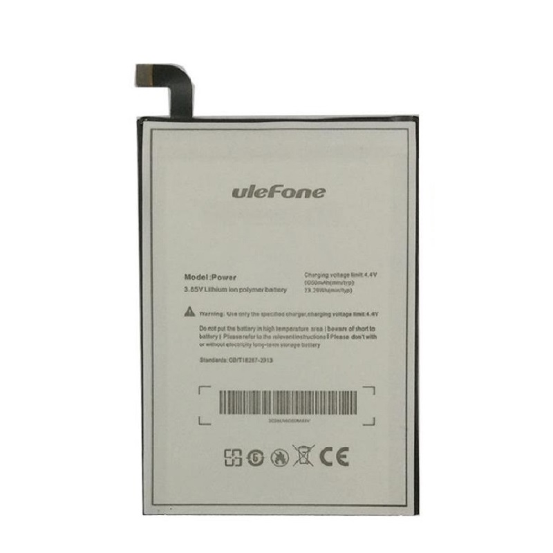 Original Ulefone Power Battery Li-Ion 6050mAh 3.85V Smart Phone Rechargeable Batteries Replacement