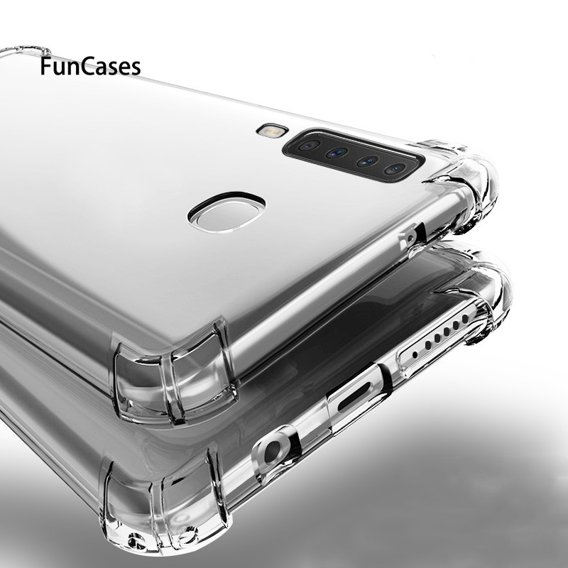 Shockproof Clear Soft Silicone Armor Case For Samsung S10 Lite Pro A6S A9S A750 J4 J6 A8 Plus 2018 J3 J5 <font><b>J7</b></font> S8 S9 back cover image