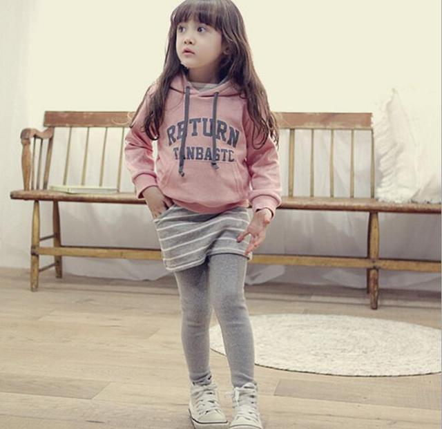 2016 Newest Korea Girls Letter Printed Hoodies Sets Children Long Sleeve Warm Two Pieces Sets Kids Casual Sweatshirts Sets