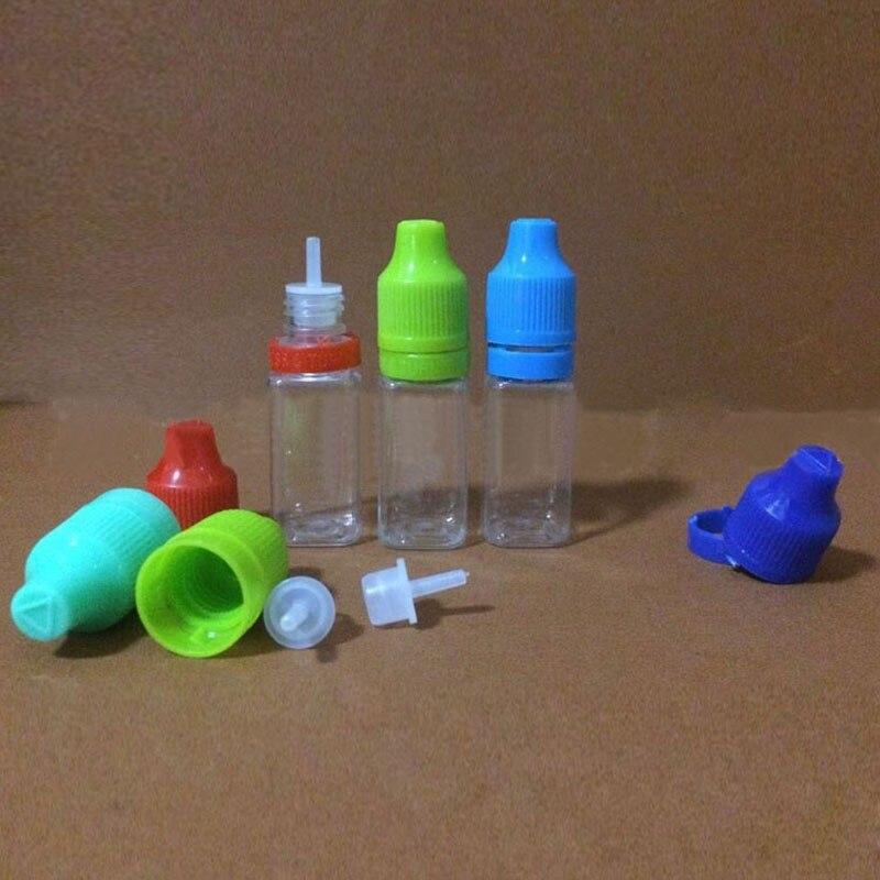 2000PCS Plastic Dropper Bottle 10ml PET Dropper Bottles 10ml E Liquid Bottles tamper evident childproof with