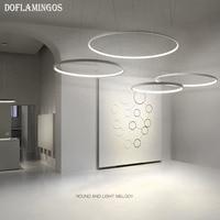 Fashional super thin 1.7CM Modern chandeliers circle rings led chandelier light for indoor lighting AC 220V 40CM 50CM 60CM 80CM