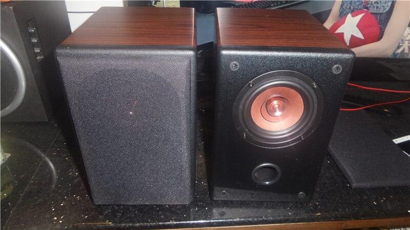 TIANCOOLKEI TB-QP4 pair Living Room Bookshelf Desktop loudspeaker 4 inches HiFi Boxes Amplifier Speakers L R  stereo 20w-50w