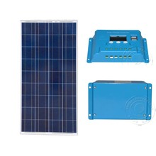 Pannelli Solari Fotovoltaici Kit 12v 150w Solar Charge Controller 12v/24v 10A Lamp Rv Motorhome solar charger for car battery