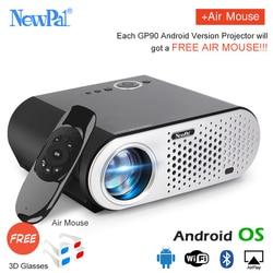 Newpal GP90 UP Mini Projector 3200Lumens Android WiFi Video Projecteur 1.2-5M Throwing Support Full HD 1080P HDMI/USB/AV/VGA