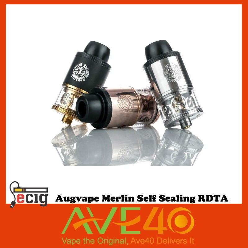 ФОТО Authentic Augvape Merlin RDTA stainless steel 24mm diameter 3.5ml e-juice capacity electronic cigartee VS IJOY