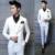2016 Chaqueta Para Hombre Trajes de Boda Marca Novio Ropa Últimas Bragas de la Capa Diseños Chaqueta Hombres 3 Unids Traje Blanco Chaqueta de Negocios D013