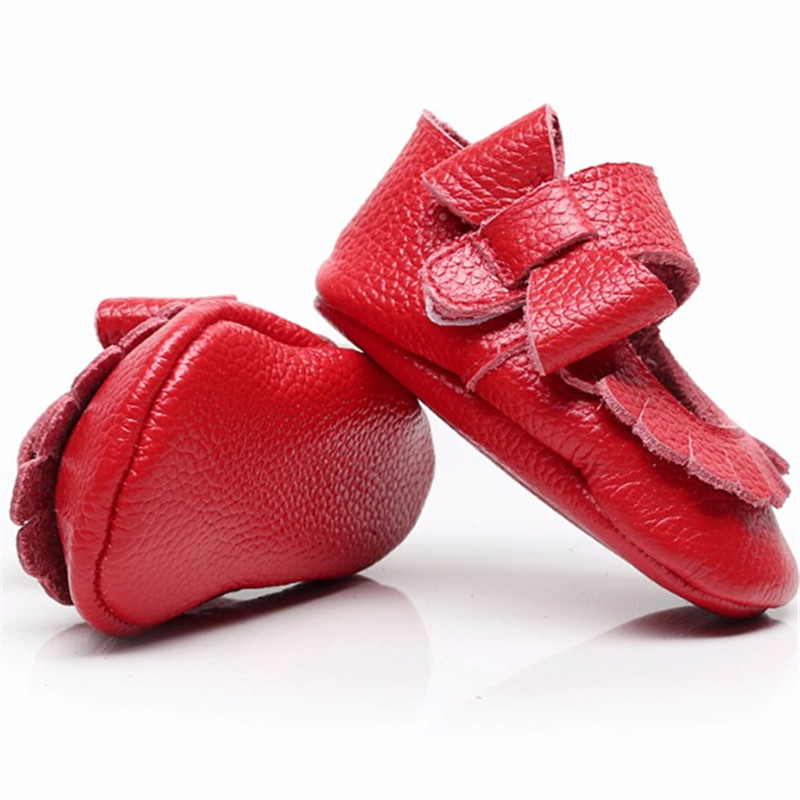 Hongteya-Hot-sale-17-colors-New-Genuine-Leather-Baby-Infant-Toddler-Moccasins-Non-slip-side-bow-mary-jane-Soft-Moccs-Shoes-4