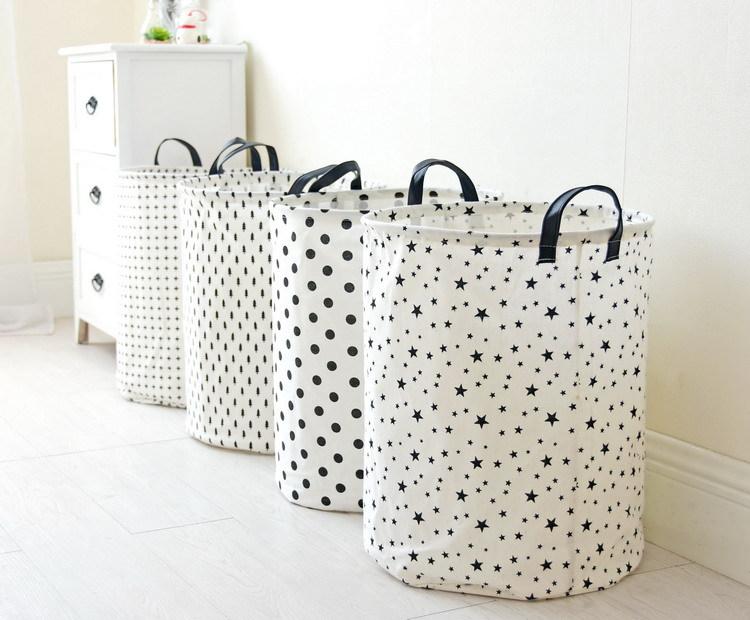 Laundry Basket 35*45 CM Sundries Storage Container Folding Storage Basket Toys Home Clothes Storage Bag Clothes Organizer 8