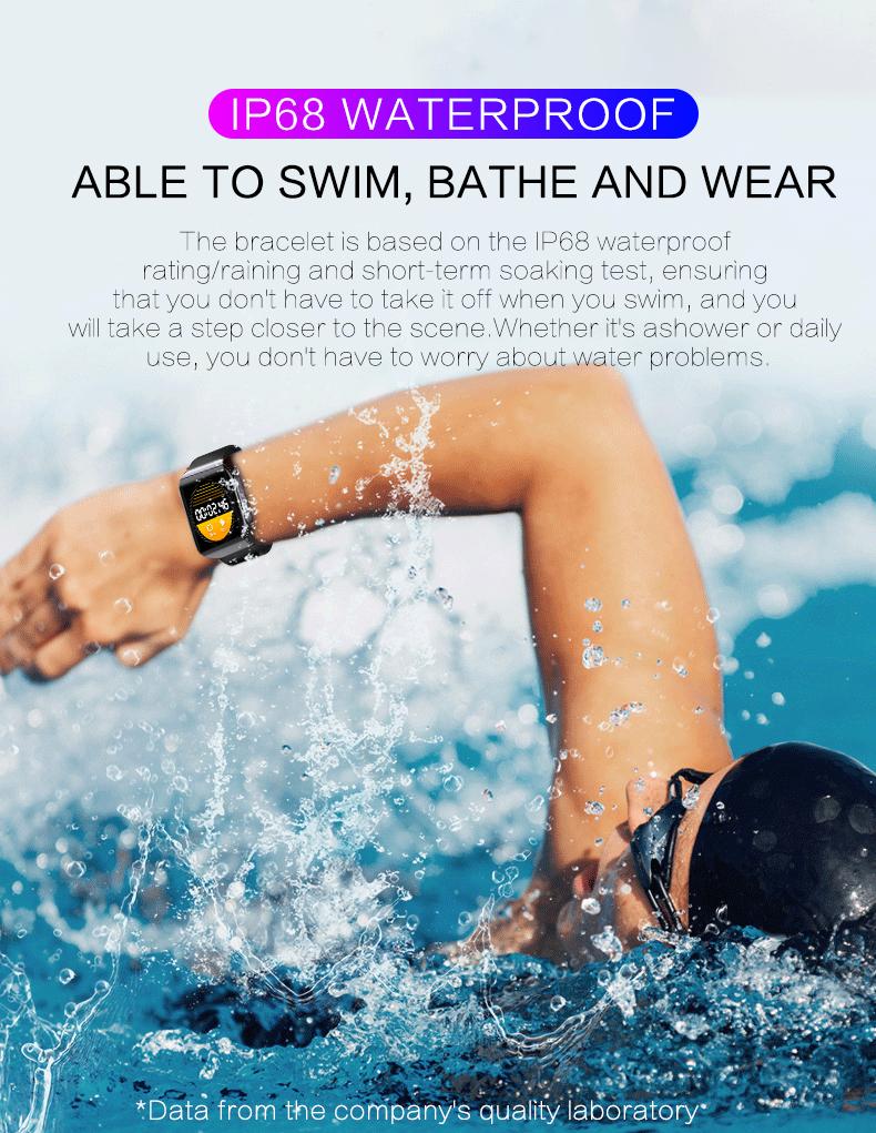 KSUN KS58 pulsera inteligente banda con Monitor de ritmo cardíaco 7