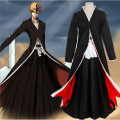 BLEACH Cosplay Kurosaki ichigo  Costume Men's  Cloak Rope Halloween Carnival Anime Costumes Hot