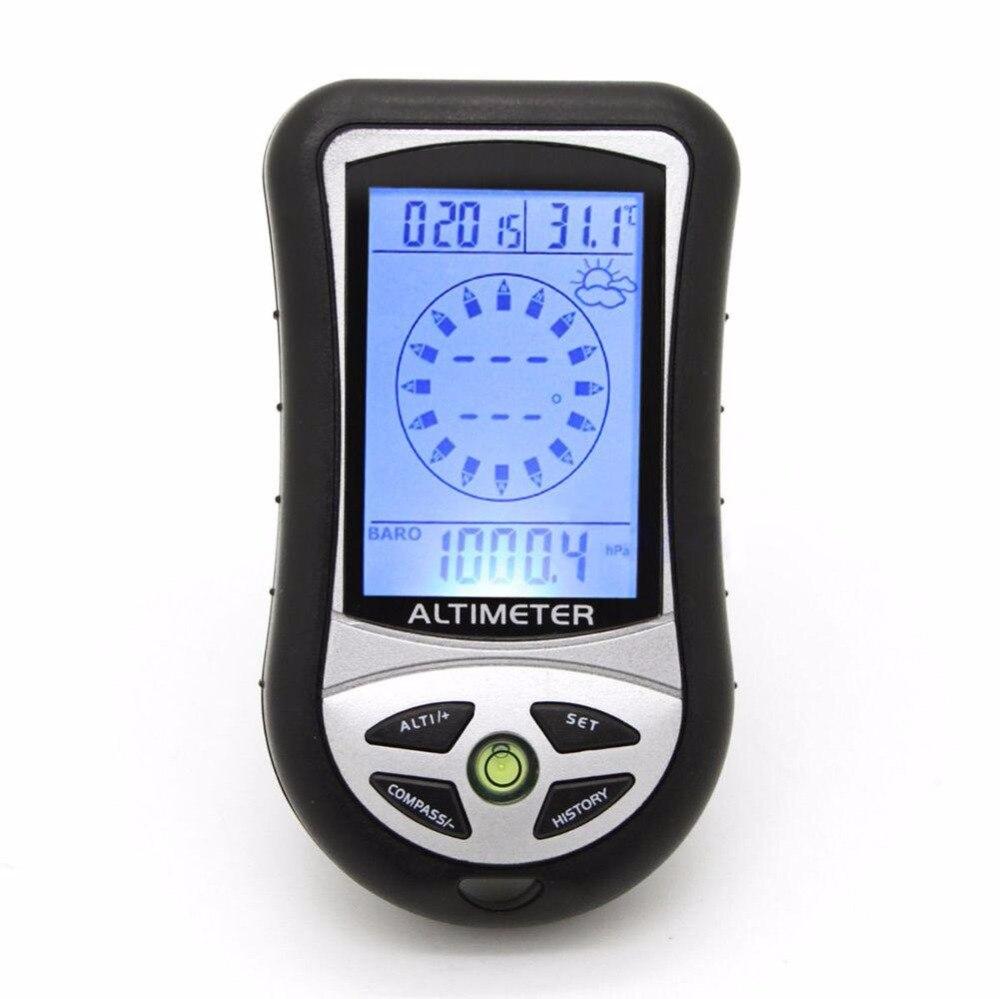 Портативный 8 в 1 Многофункциональный цифровой ЖК-дисплей Компасы барометр Термо часы цифровой высотомер Рыбалка барометр открытый инструм...