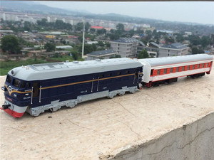 Image 3 - High simulation train model.1:87 scale alloy pull back Double train, passenger compartment,metal toy cars,free shipping