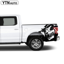 skull  body rear tail side graphic vinyl decalsbody  tail side graphic vinyl decals for Ford FORD F150 2015 woven tape side heathered graphic pullover