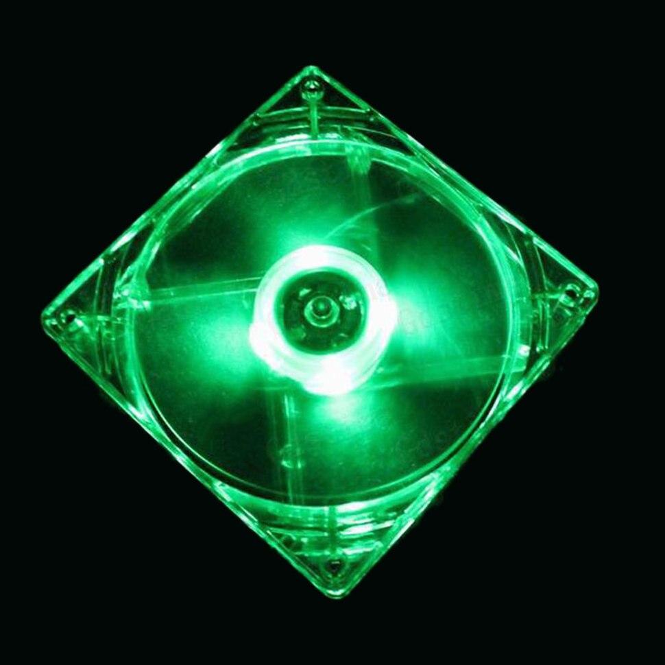 Охлаждающий вентилятор, Компьютерный Вентилятор Quad 4, светодиодный светильник 120 мм, чехол для компьютера, охлаждающий вентилятор, модный тихий Molex коннектор, легкий светодиодный вентилятор 12 В - Цвет лезвия: Green