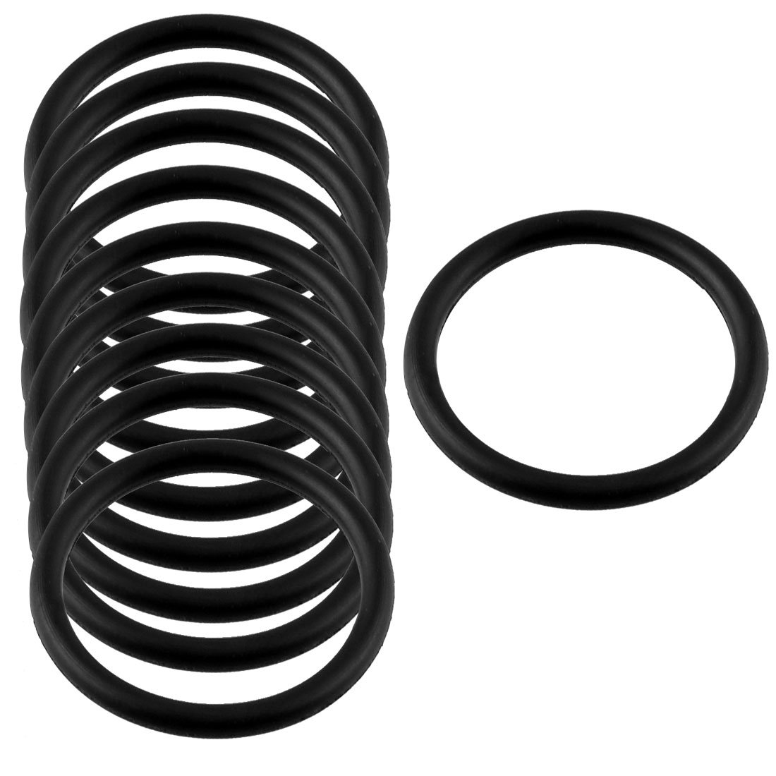 10x New 10 Pcs Black Rubber Oil Seal O Ring Sealing Gasket Washers ...