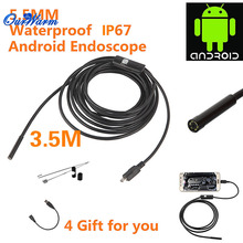 6 LED 5.5mm Lens Android USB Endoscope Waterproof Inspection Borescope Tube Camera 3.5M