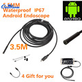 6 LED 5.5mm Lente Android Tubo Endoscopio USB de Inspección Impermeable Boroscopio Cámara 3.5 M