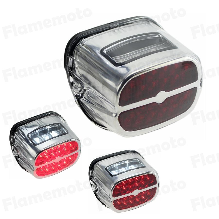 LED Motorcycle Brake Tail Light Integrated License Plate Rear Lamp For Harley Softail Sportster 883 1200 XL XLH FXSTS FXSTSI