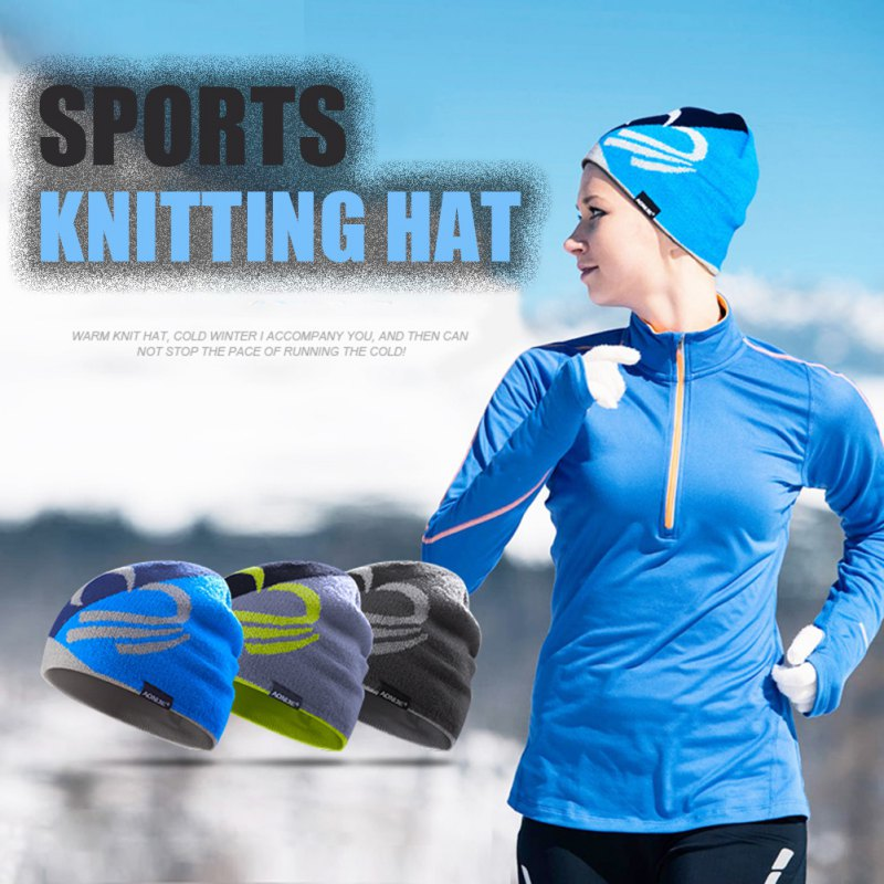 Winter Running Caps Men/Women Outdoor Riding Exercise Sports Wool Hat Europe And the United States Hot Knitting Hat L2 ...