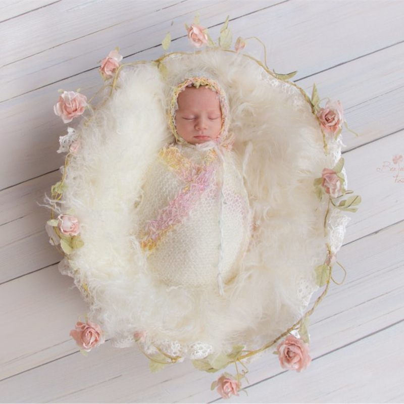 Wrap Mohair Newborn-Baby Knit Photography-Props Stretchable-Wrap Handmade