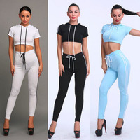 Women S Sports Running 2 Pcs Sports Tops And Pants Set Clothes Women Set 2016 Hot