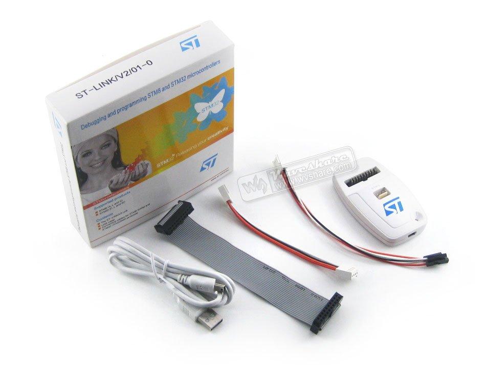 ST-LINK V2 (CN) ST-LINK V2 STM32 STM8 USB JTAG Programmer In-circuit Debugger 100% Original Free Shipping st link v2 stm8 stm32 emulator programmer stlink hex bin downloader debugger
