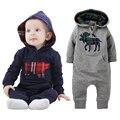 Macacão de bebê Com Capuz Outono Do Bebê Meninas Define Vestuário Roupa Bebes Recém-nascidos Roupas de Bebê Primavera Bebê Menino Roupas Infantis Macacões
