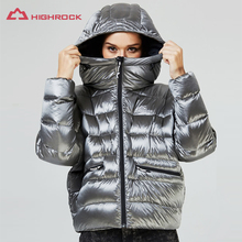 Высококачественная Женская куртка на гусином пуху, зимняя куртка для кемпинга, походов, спорта на открытом воздухе, теплое пальто, женская куртка с капюшоном, 90% гусиный пух