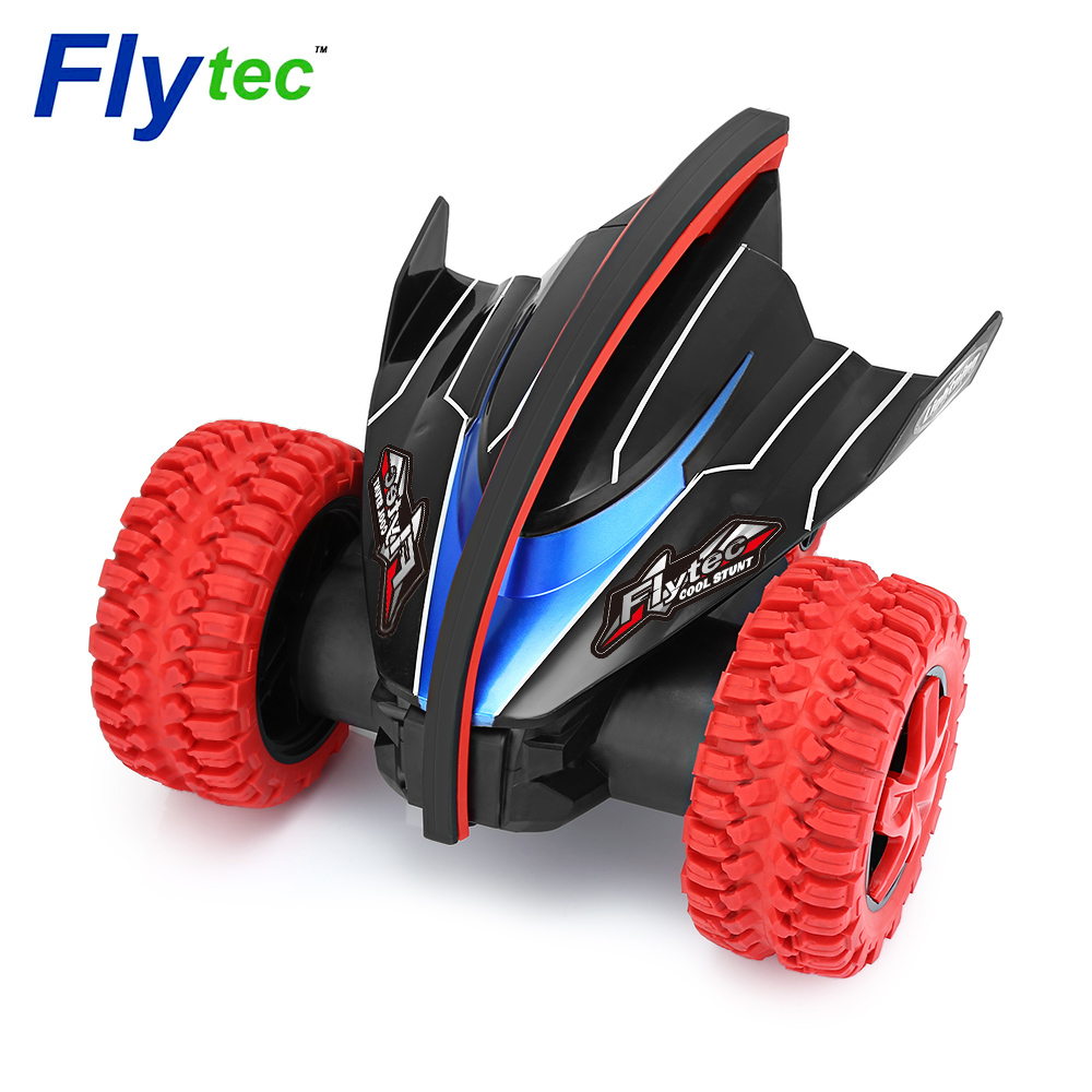 все цены на Flytec 015 RC Car 360 Degree Bouncing Rotation Devil Fish Crazy Gyro Car 2.4G 4CH RC Toy Strong Driving Force RC Cars Toy онлайн