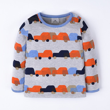 18/6T Boys Long Sleeve Tops Brand Autumn Clothing Baby Boy t shirts fashion Pattern Children T shirts for Kids Boy Clothes