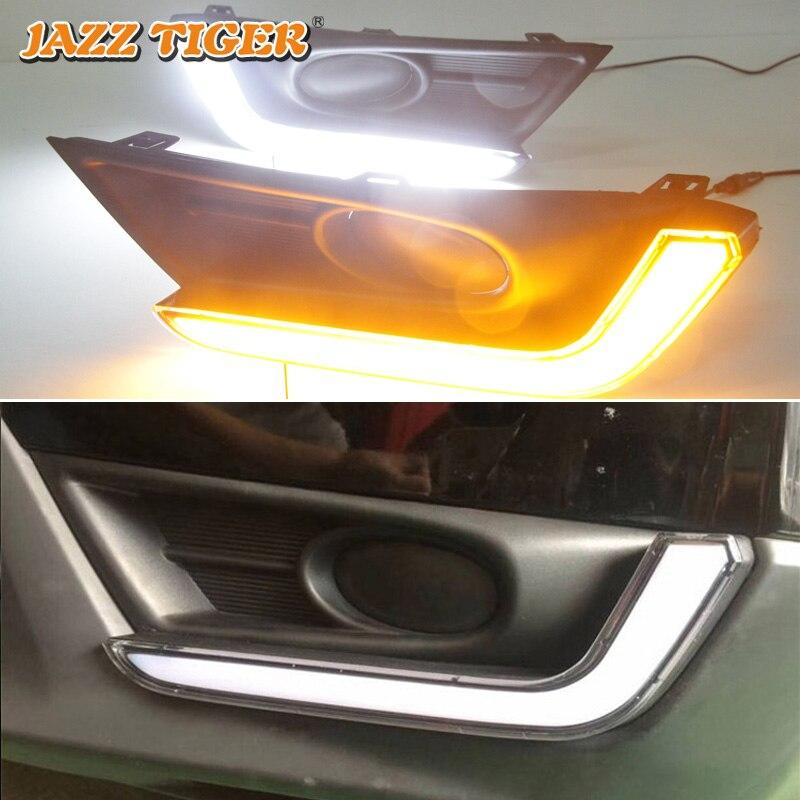 Джаз тигр 2 шт. желтый сигнал поворота Функция Водонепроницаемый ABS светодиодный дневного света светодиодный DRL для Honda CR-V CRV 2017 2018