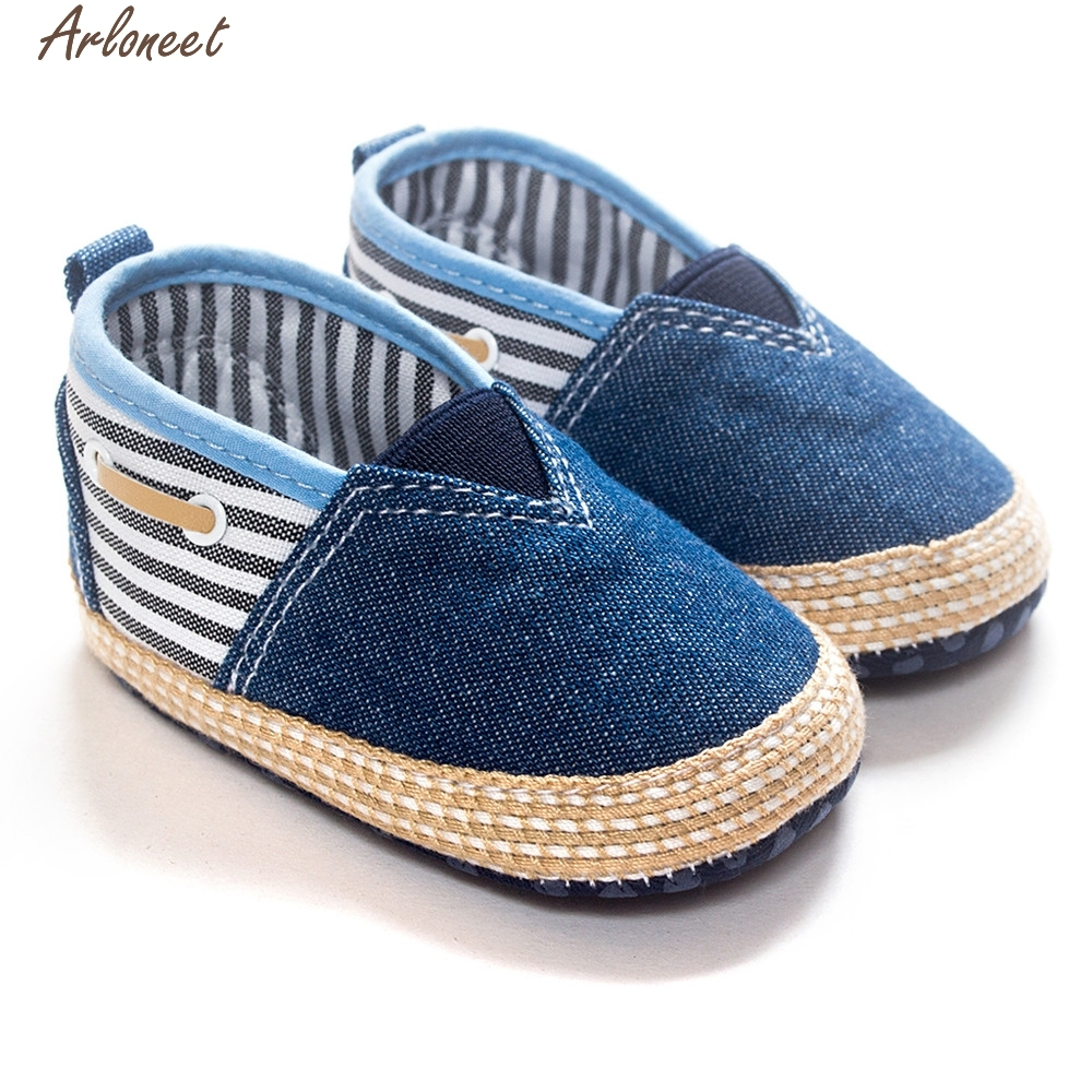 ARLONEET Baby Toddler Soft Sole Leather Shoes Infant Boy Girl Toddler Shoes denim