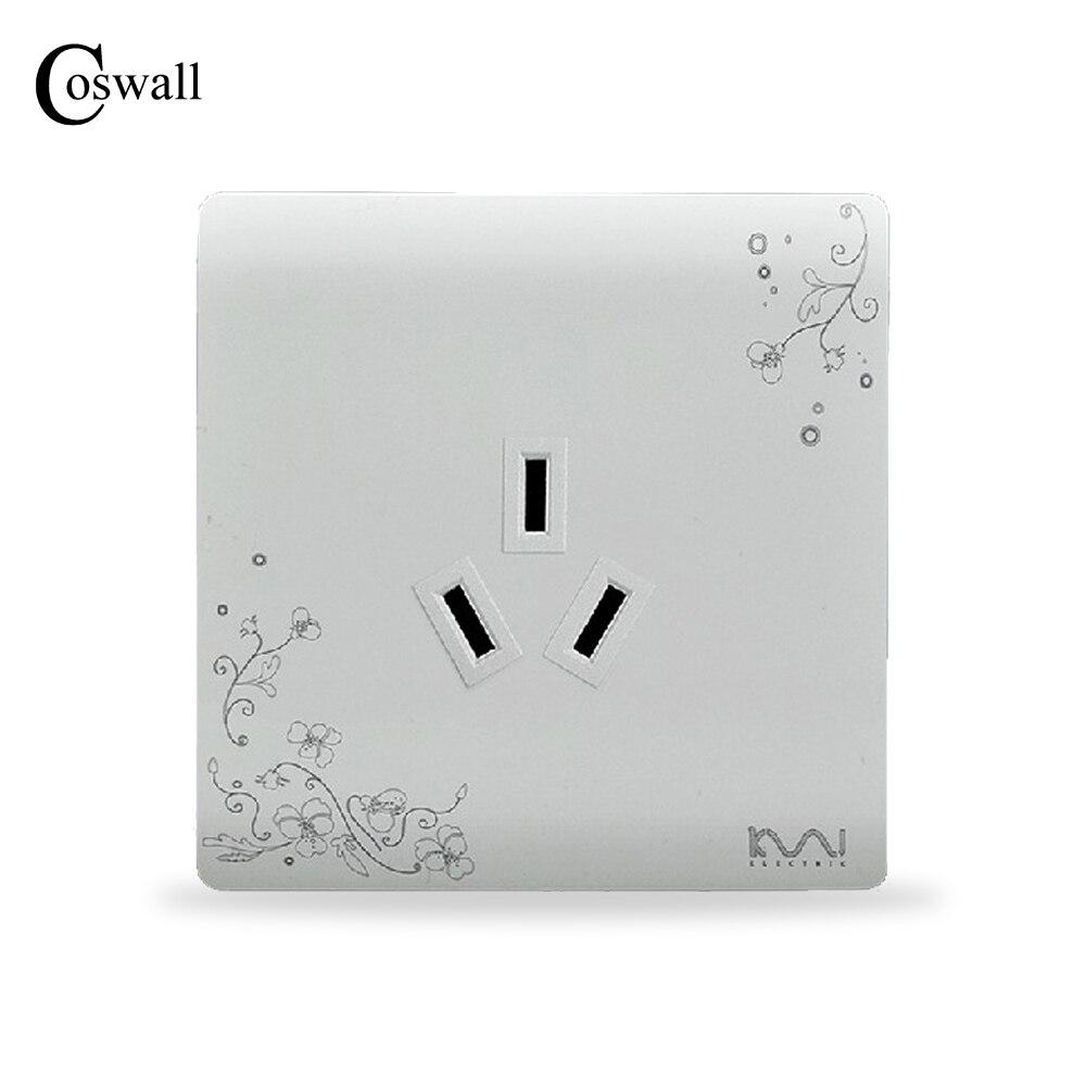 COSWALL Fashion Wall Electrical Socket, 3 hole power outlet, AC 110~250VCOSWALL Fashion Wall Electrical Socket, 3 hole power outlet, AC 110~250V