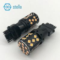 2 шт. T25/3156/P27W 100% canbus автомобильной Светодиодный лампа Янтарный лампа для спереди или сзади светодиодный включение света /индикатор 12 В/24 В су...