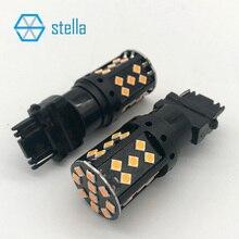 2 шт. T25/3156/P27W 100% Canbus автомобильной Светодиодный лампа Янтарный лампа для спереди или сзади светодиодный включение света /индикатор 12 В/24 В супер яркий