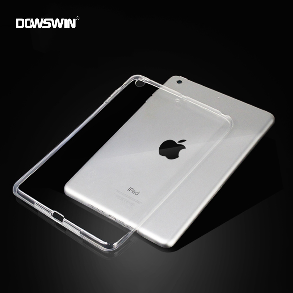 DOWSWIN for iPad 9.7 inch 2017 case TPU Candy color transparent soft shell for new ipad 9.7 cover 2017 cases shockproof for ipad mini4 cover high quality soft tpu rubber back case for ipad mini 4 silicone back cover semi transparent case shell skin