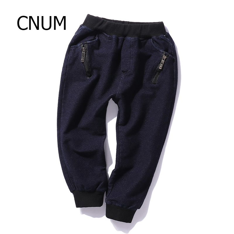 CNUM Baby Boys Jeans Clothing Overalls 2017 Long Length 10 Years Cotton Boys Pants Trousers Autumn
