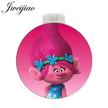 JWEIJIAO Boys and Girls Cartoon Photo Pocket Mirror With Massage Comb Children Folding Portable Make up Mirrors Beauty Tools 1 pc fashion cartoon anti val draagbare kleine spiegel leuke meisjes make upspiegel pocket spiegel voor beauty tools