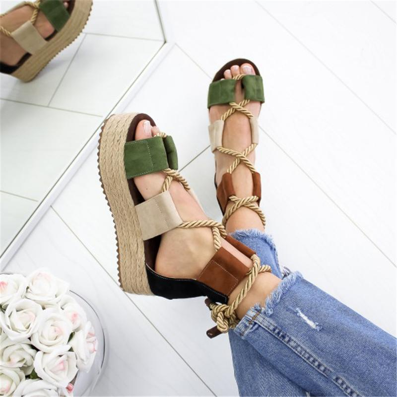 2020 New Women Sandals Shoes Celebrity Wearing Mixed Colors Style Clear Colorful Strappy Sandals High Heels Shoes Mid Heel Shoes 14