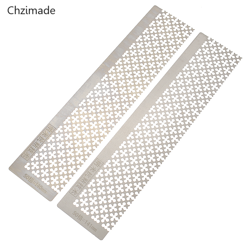 Chzimade 5D Diamond Stainless Steel Quincunx Ruler Dotting Embroidery Rhinestone DIY Diamond Painting Tools