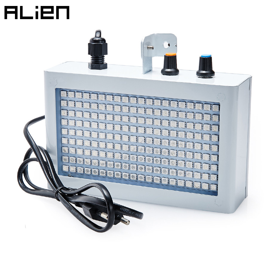 ALIEN 180 LED Strobe Flash Light Sound Control Activated Speed Adjustable  Stage Disco DJ Home Party Ktv Wedding Lighting Effect
