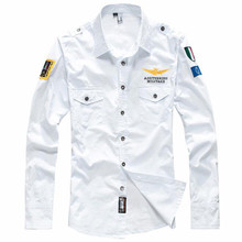 Airforce Brand Military Shirt Men Long Sleeve Casual Slim fit Mens Shirts Camisa Masculina 100% Cotton High Quality Shirt Hombre