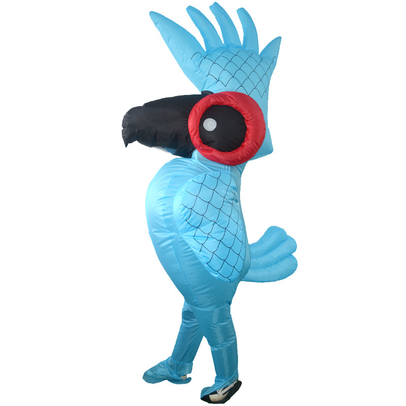 2018 Carnival unisex parrot Cowboy Inflatable Costumes Funny Party Dress Animal Cosplay Halloween purim for adult and kids size