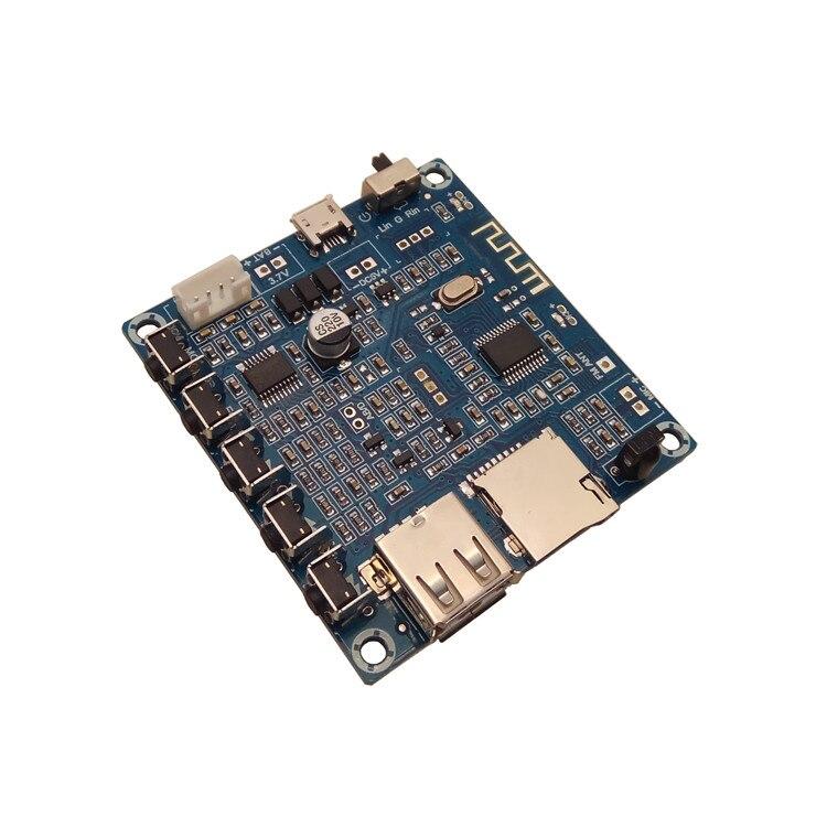 Pure White And Translucent u Disk/usb/tf Card/mp3 Decoder Player/fm Radio 3w Bluetooth Digital Remote Control Amplifier Board Humor 3w