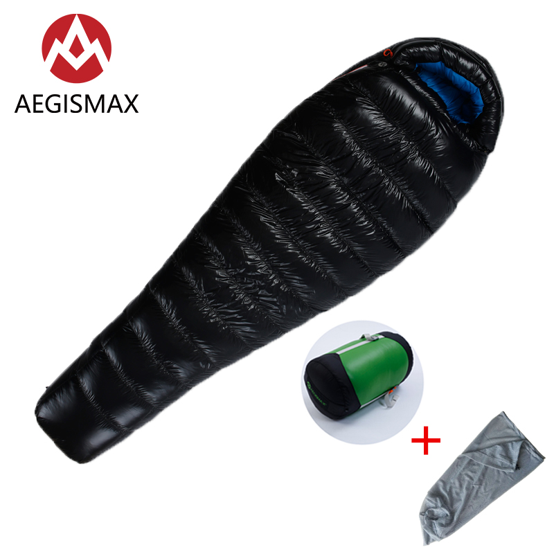 AEGISMAX G3 M Adult Outdoor Camping White Goose Down Sleeping Bag Ultralight Autumn Winter Mummy Sleeping