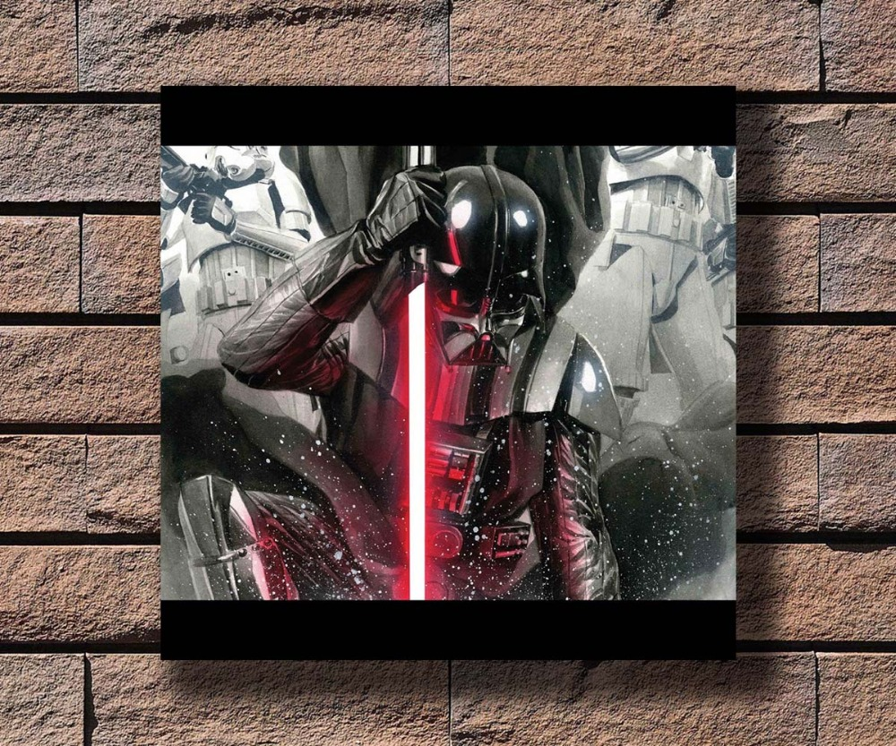 Art fabric Poster Star Wars Darth Vader Hot Classic Movie room Decor 24x36
