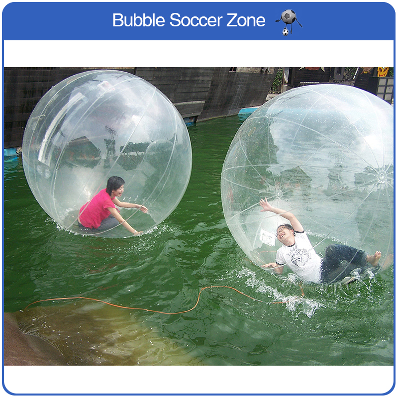 Free Shipping 2m 0.8mm PVC Dancing Ball Outdoor Transparent Inflatable Walking Water Ball Human Water Ball Giant Ball Inflatable