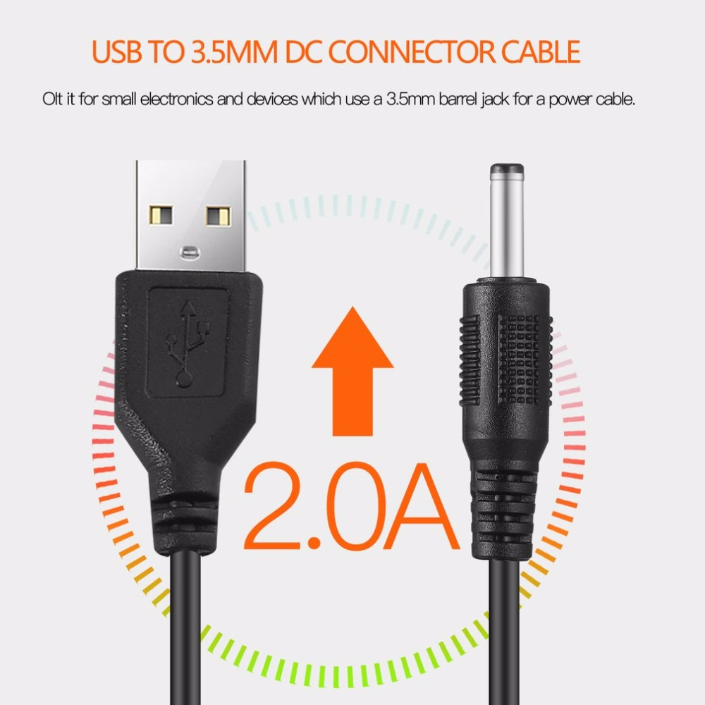 USB 2.0 A Type Male To 3.5mm DC Power Plug Barrel Connector 5V Cable free shipping free shipping 10pcs high quality dc power plug male charger connector cable 40cm 5 5 2 1mm for laptop pc
